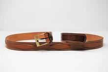 """Cintura pantalone in cuoio mm 35 con inserto """"rombo"""" CP 12"""