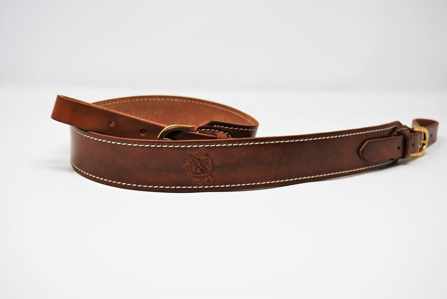 Cintura cuoio carabina mm 40 cucita CI 25