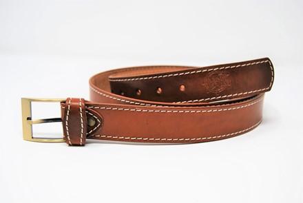 Cintura in cuoio ingrassato liscia cucita mm 35 CP 11