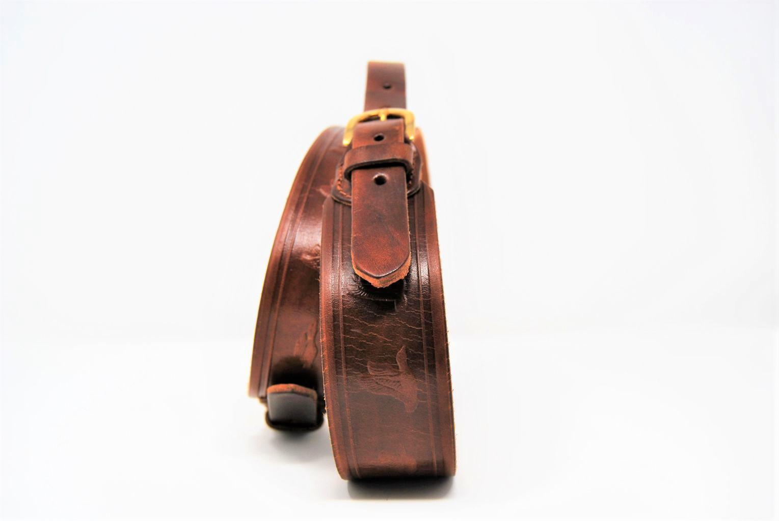 """Cintura cuoio carabina mm 40 stampo """" Duck """" CI 24"""